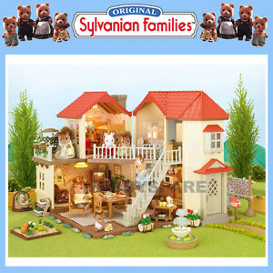 NEW SYLVANIAN FAMILIES BEECHWOOD HALL DOLL  HOUSE w WORKING LIGHTS 4531
