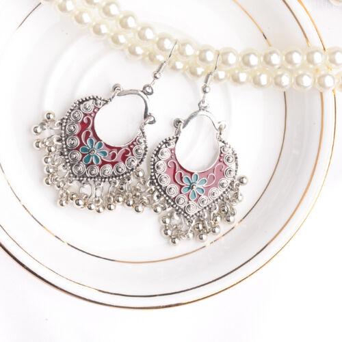 Fashion Boho Drop Long Earrings Red Carved Ethnic Earrings F