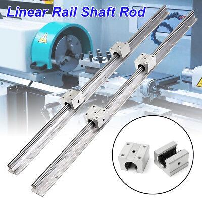 2pcs Sbr12-700mm 12mm Linear Bearing Rail Slide Guide Shaft 4x Sbr12uu Blocks