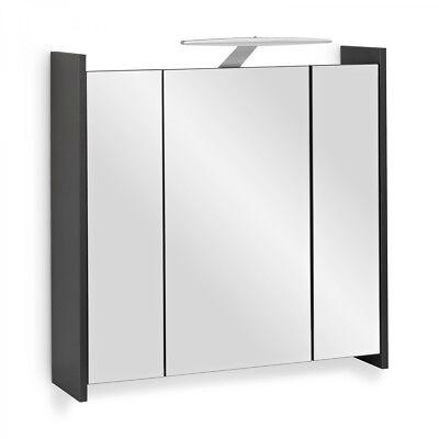 Gebraucht, Spiegelschrank Elegance Anthrazit Mit LED Beleuchtung 70cm Mit  Steckdose Gebraucht Kaufen Zehdenick