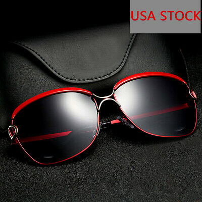 Sunglasses Women Oversized Polarized Designer Vintage Driving Fashion Square ()