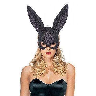 Bunny Mask Adult Masquerade Black Rabbit Halloween Fancy Dress - Black Bunny Mask