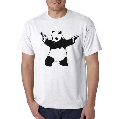 Panda Guns T-Shirt - Pistols Handguns Funny Animal Tee Art Graffiti Xmas Gift](Funny Animal Christmas)