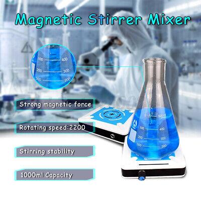 Magnetic Stirrer Mixer Plate 2200rpm Stirring Capacity 1000ml Machine