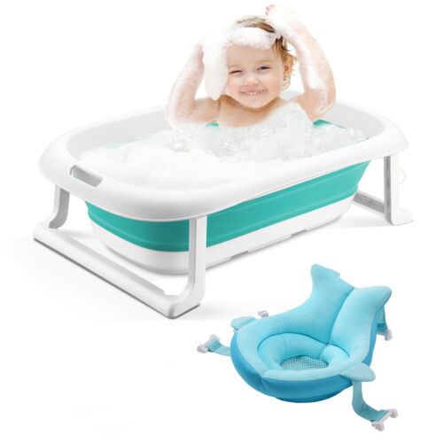 3-in-1 Baby BathTub portable Collapsible Toddler Foldable Infant Shower Basin