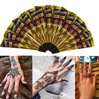 1x Negro Henna Corporal Temporal Tatuaje Mehndi Maquillaje Cuerpo Pintura Conos -  - ebay.es