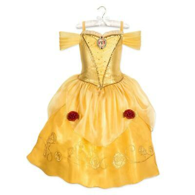 NWT Disney Store 4 5/6 7/8 9/10 Belle Costume for Kids Beauty and the Beast NEW](Belle Costume Disney Store)
