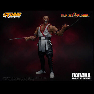 Storm Toys Mortal Kombat 1/12 Scale BARAKA Action Figure with 2 Head Sculpt - Baraka Mortal Kombat