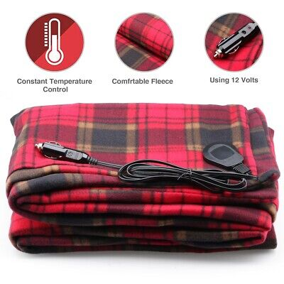 [Adjustable Heat] 12V Electric Heated Car Use Winter Warm Blanket Cover Heater