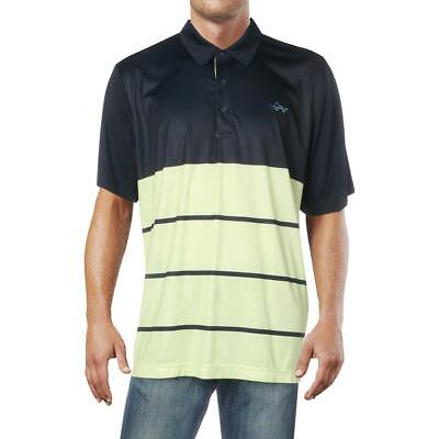 Attack Life by Greg Norman Mens Taylor Navy Block Polo Shirt Top XXL BHFO 4512