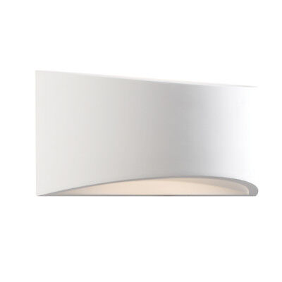 SAXBY TOKO 300mm White Plaster LED Curved Wash Up/Down Interior Wall Light 61638