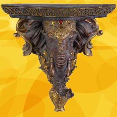 Elefanten Wand Konsole Indien Vintage Kunst Antik Dekor Vintage Geschenkskulptur