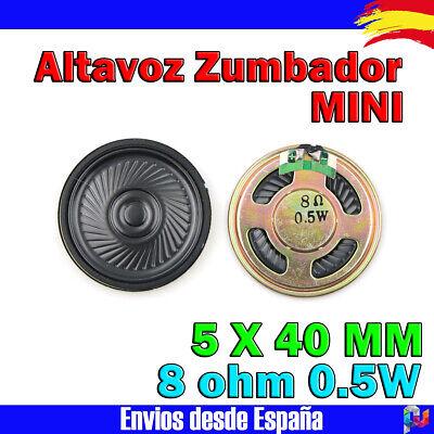 Altavoz Zumbador Mini 8 ohm 0.5 w 5 X 40 mm Electronica...