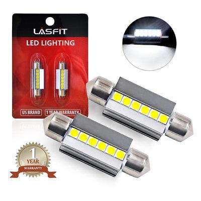 LASFIT 36MM C5W 6418 6411 6000K White LED Trunk Map Dome Roof License Light Bulb