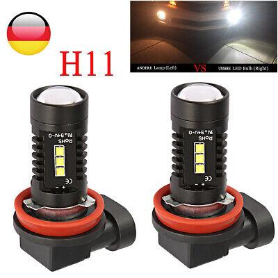 2STK H11 H8 H9 LED Nebel scheinwerfer Auto Lampen160W Tagfahrlicht Birnen Weiß