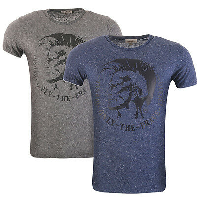 Diesel Herren T-Shirt Kurzarm T-Snaps Indianer Kopf Logo Only The Brave Shirt