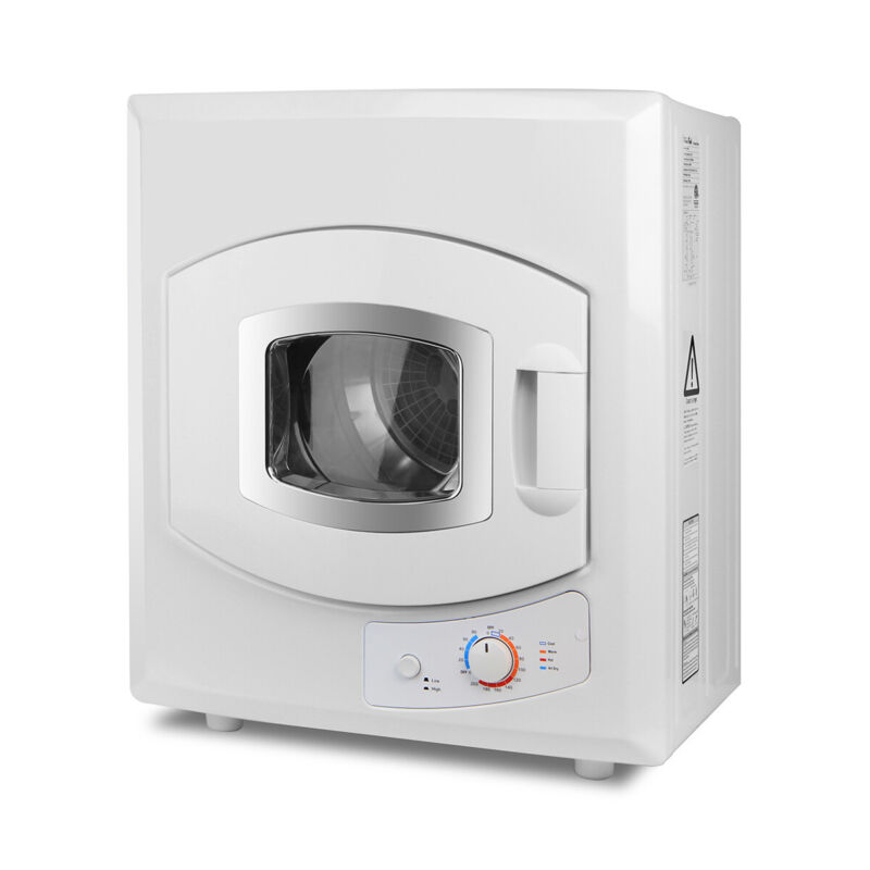 Electric Tumble Compact Laundry Dryer Stainless Steel Mounted 8.8lb Capacity