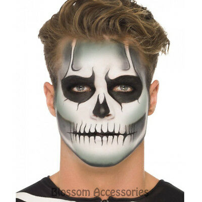 A872 Glow in the Dark Halloween Skeleton Make Up Kit Face Paint Horror Bones - Face In A Face Halloween Makeup