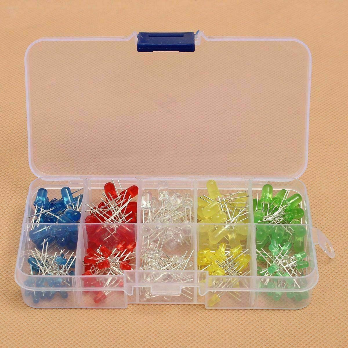 100 pieces 5mm LED Rings White Yellow Red Green Blue per 20 ST SPECIAL OFFER E13//2