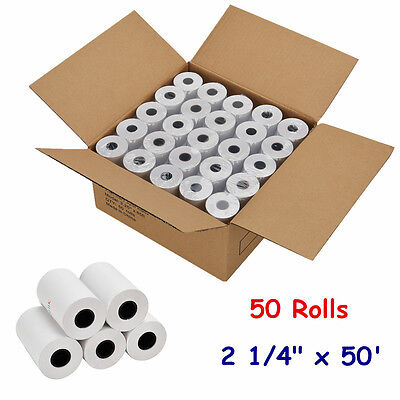 2 14 X 50 Ft Thermal Receipt Paper Pos Cash Register - 50 Rolls Free Shipping
