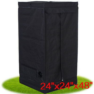 "24""x24""x48"" Indoor Grow Tent Room Reflective Mylar Hydroponic Non Toxic Hut New"
