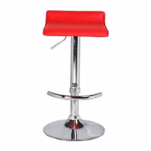 2 x Mika Red PU Leather Bar Stools