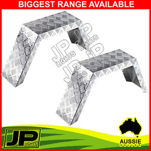 MUDGUARD-ALUMINIUM-PAIR-2-FOLD-SUIT-14-WHEELS-TRAILER-BOAT