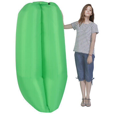 Portable Lazy Inflatable Sleeping Bed Lightweight Outdoor Camping Travel Green
