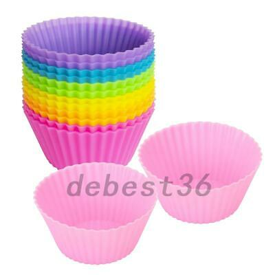 20pcs Mini Silicone Cup Cake Pan Mold Muffin Cupcake Form Baking Accessories US