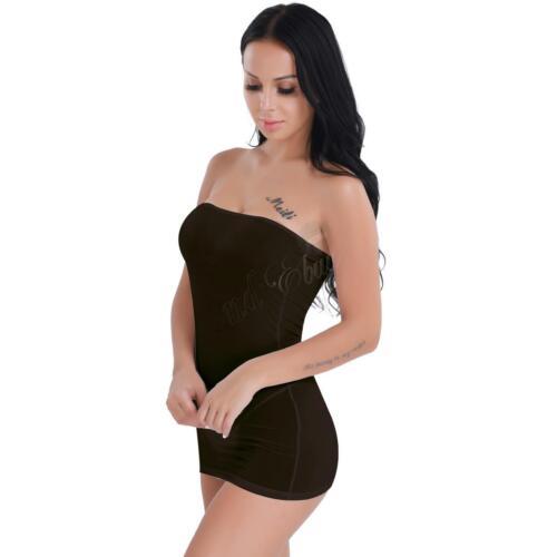 685a4851ad8a UK - Women Full Body Shaper Control Slip Tube Dress Strapless Slimming  Shapewear