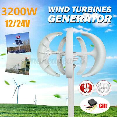 12/24V 5 Blades  Wind Turbine Generator Vertical Axis Home Power