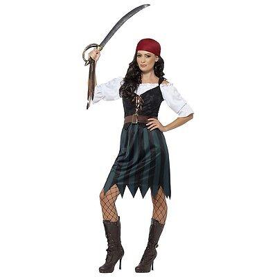 Authentic Lady Captain Costume Halloween Fancy Dress