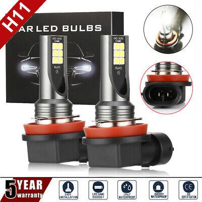 2× H11 H8 200W 26000LM LED COB 6000K Scheinwerfer Nebelscheinwerfer Canbus Birne