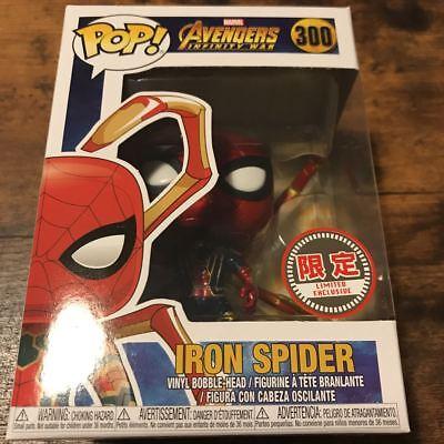Funko Pop  Avengers Infinity War  300 Iron Spider Man W 0 5Mpp Limited Exclusive