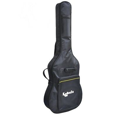 FULL-SIZE PADDED PROTECTIVE CLASSICAL ACOUSTIC GUITAR BAG CARRY BACK CASE BLACK for sale  Ely