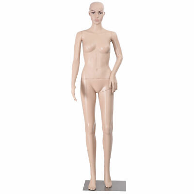 Female Mannequin Plastic Realistic Display Head Turns Dress Form W Base