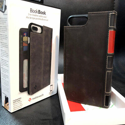 Twelve South BookBook Wallet ID Vintage Leather Case for iPhone 6s/7/8 7/8 Plus
