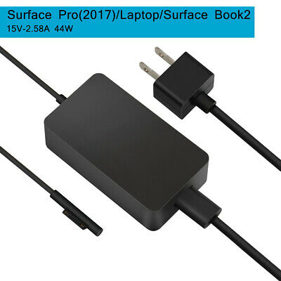 For Surface Book 2,Pro 3/Pro 4 AC Charger 15V/2.58A 44W Power Supply / USB Port