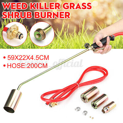 Us Weed Burner Torch Kit Shrub Grass Killer Butane Gas Garden Tool W 3 Nozzle