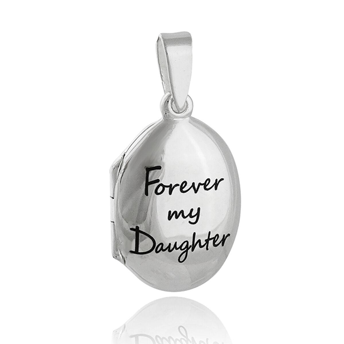 Engraved Forever My Daughter Locket - 925 Sterling Silver...