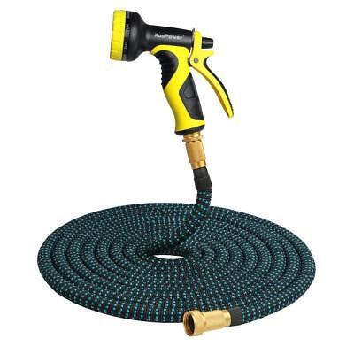 3X Stronger Deluxe 50 FT Expandable Flexible Garden Water Hose+Spray Nozzle