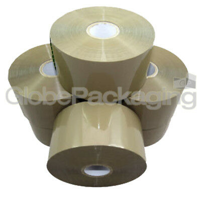 6 ROLLS OF UMAX EXTRA LENGTH 50mm x 150M BROWN BONUS TAPE PACKING PACKAGING
