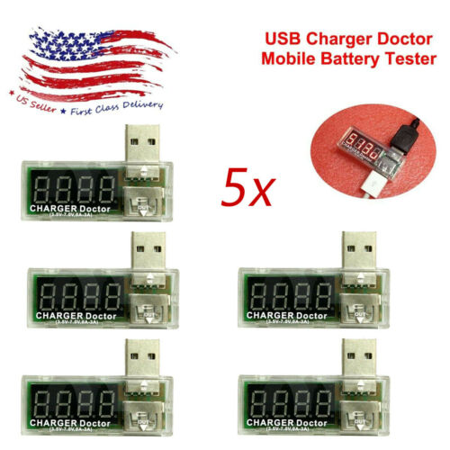5pcs USB Charger Doctor Voltage Current Meter Mobile Battery Tester Detector