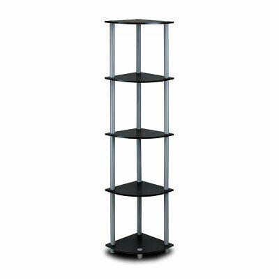 Round Corner Shelf (Corner Shelf  Stand Display Shelf  Rack  Stand Storage Five-Tier Bookcase)