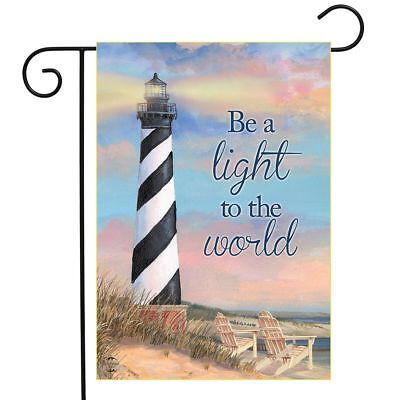 "Coastal Lighthouse Summer Garden Flag Shoreline Pier 12.5"" x"