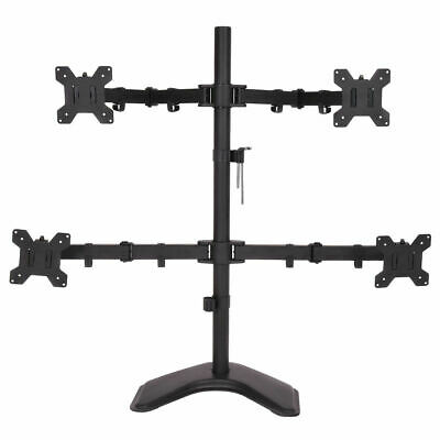 4 LCD Tilt Monitor Mount Desk TV Bracket Stand Adjustable Arms Swiel up to - Stand Lcd Monitor Arms
