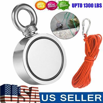 Pulling Force Upto 1300 Lbs Double Sided Neodymium Fishing Magnet Ropecarabiner