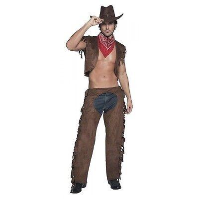 Cowboy Costume Adult Halloween Fancy Dress (Cowboy Adult Costume)
