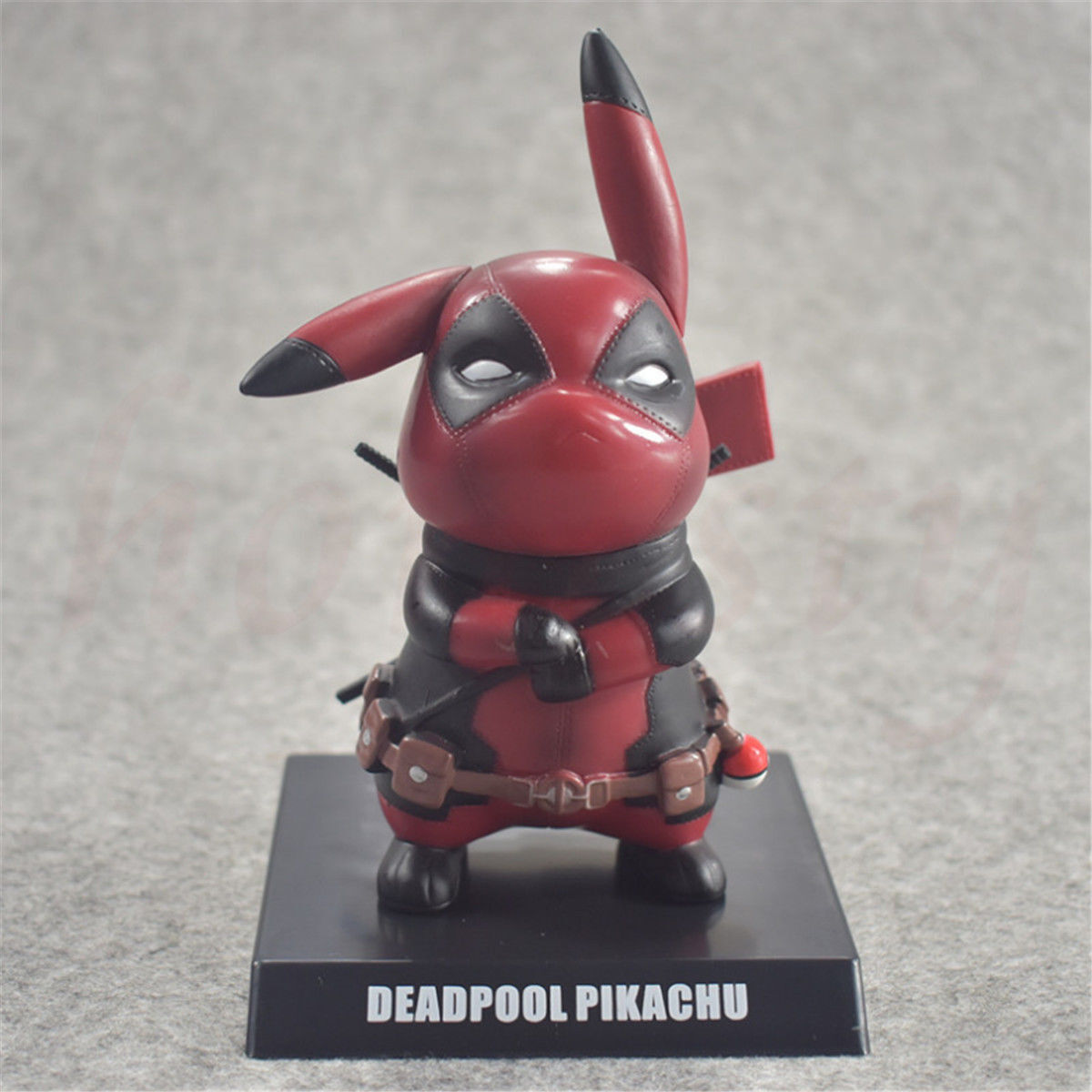 Pikachu Cosplay Deadpool Collectible Figurine Keychain Keyring Toys Gifts