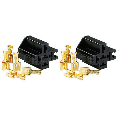 2x Relay Socket With Connector Crimp Type Connector Interlocking Free Shipping
